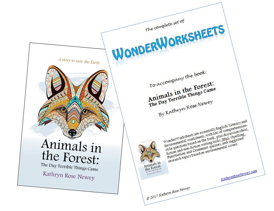 Animals in the Forest book and WonderWorksheets