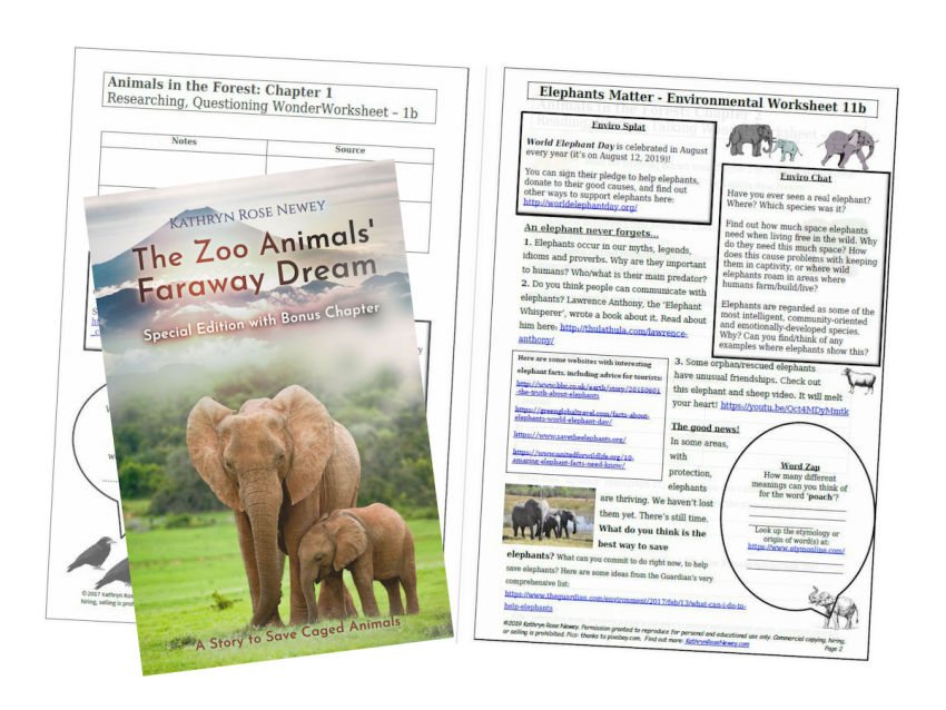 Elephants Matter Eco-Worksheet by Kathryn Rose Newey