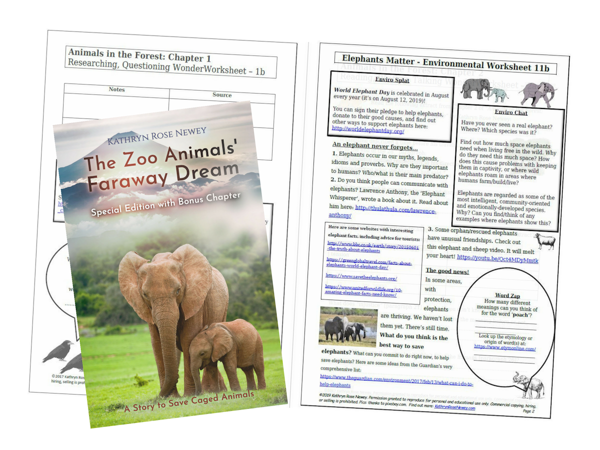 Elephants Matter Eco-Worksheet by Kathryn Rose Newey