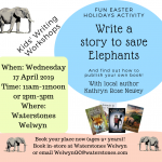 Write a Story to Save Elephants – Kids' Writing Workshops at Waterstones