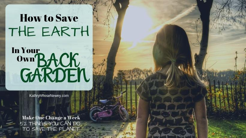 5 ways to save the Earth in your own back garden