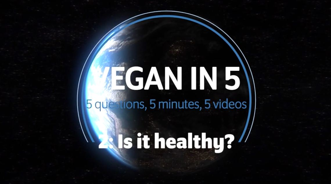 Vegan in 5 minutes: Video 2: Is it healthy?